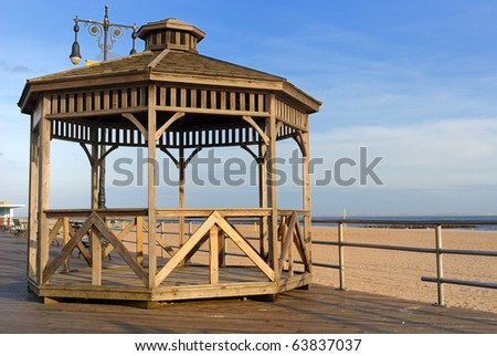 Astroland Pavilion on the Coney Island Boardwalk in New York City. - stock photo
