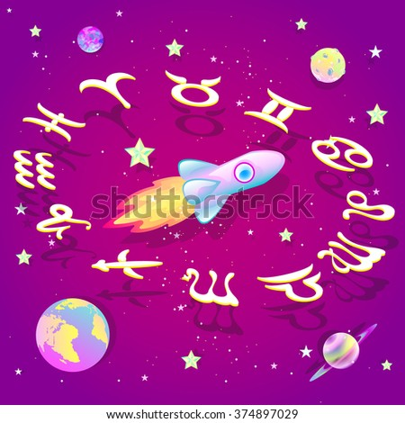 Astrological circle in space
