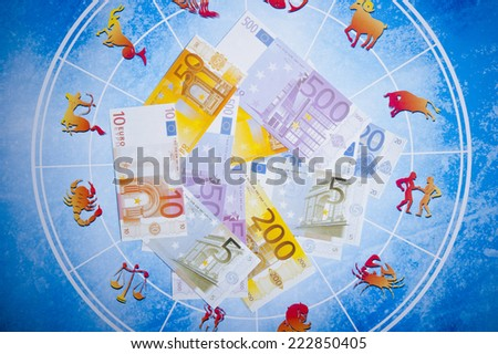 astrology and money - stock photo
