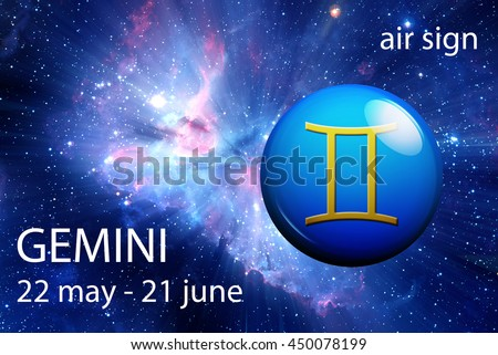 astrology sign of Gemini - stock photo