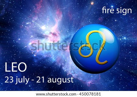 astrology sign of Leo - stock photo
