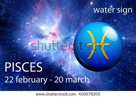 astrology sign of Pisces - stock photo