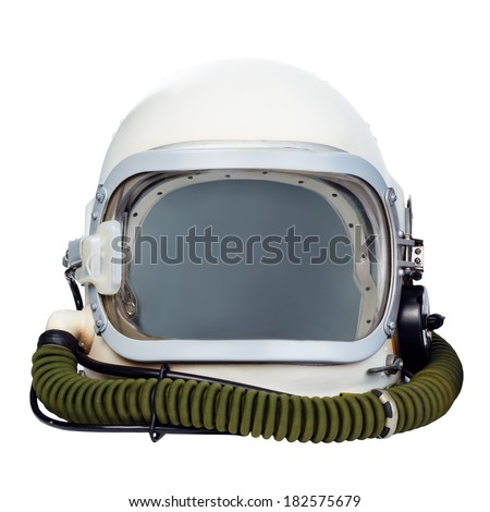 Astronaut helmet isolated on a white background.  - stock photo