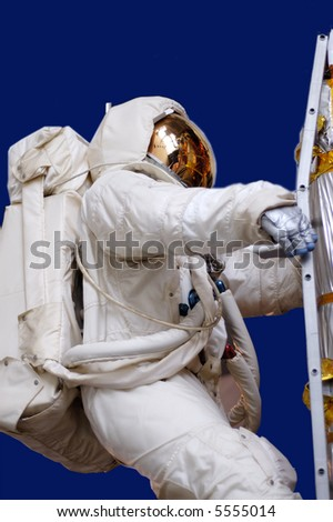 Astronaut in space suit - stock photo