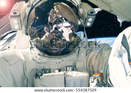 astronaut in outer space observe sky as - photo #42