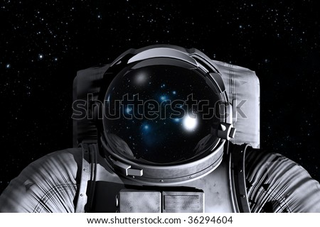Astronaut in the space - stock photo