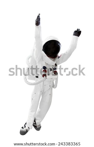 Astronaut isolated on white background with clipping path - stock photo