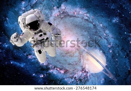Astronaut Spaceman Outer Space Suit Black Stock Photo ...