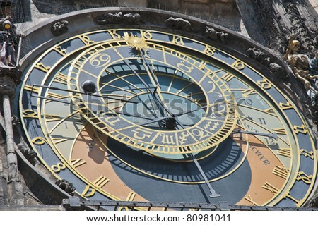 "Astronomical Clock at Old Town Square, also known as ""The Orloj"""
