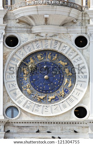 Astronomical clock in San Marco, Venice
