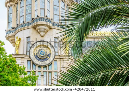 Astronomical clock on the City hall in Batumi
