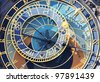 astronomical clock, Prague - stock photo