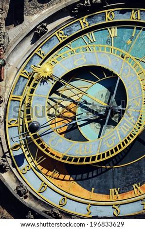 Astronomical clock, Prague - stock photo