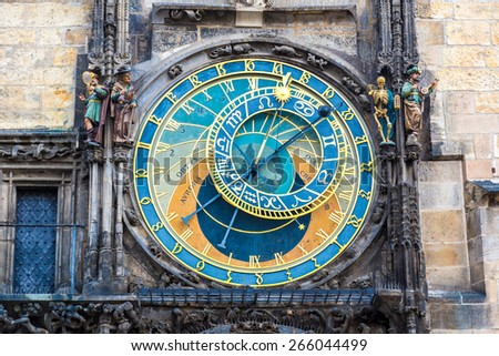 Astronomical Clock. Prague. Czech Republic - stock photo