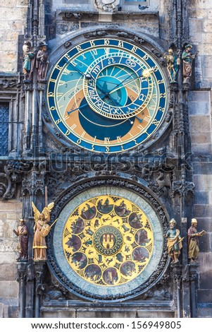 Astronomical Clock. Prague. Czech Republic. City. Europe - stock photo