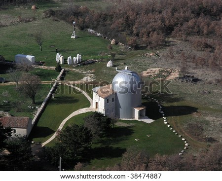 Astronomical observatory aerial view - stock photo