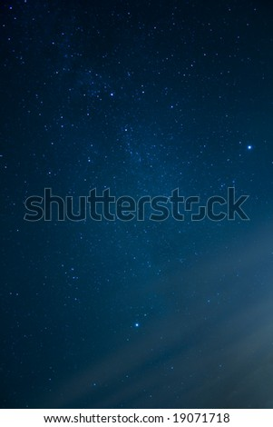 Astronomy - constellations of stars - stock photo