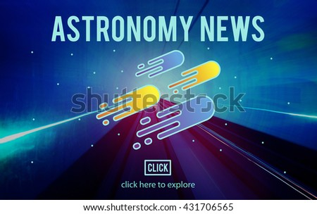 Astronomy News Exploration Nebular Concept - stock photo