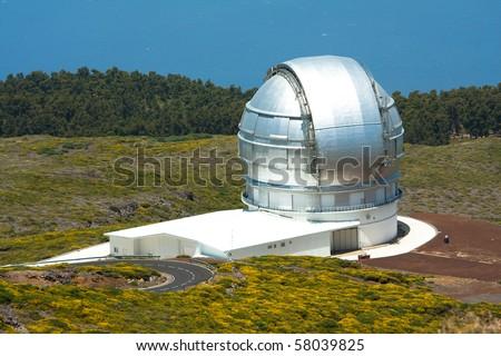 Astronomy observatory GTC on Roque de los Muchachos, La Palma - stock photo