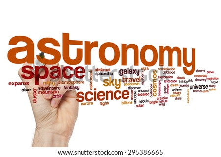 Astronomy word cloud - stock photo