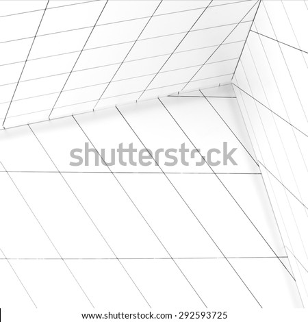 asymmetrical space - stock photo