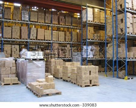 At a warehouse - stock photo