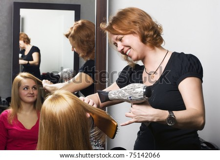 At beauty salon - stock photo