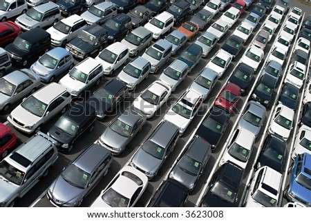 At car auction - stock photo