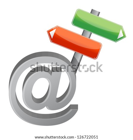 At internet signs illustration design over a white background - stock photo