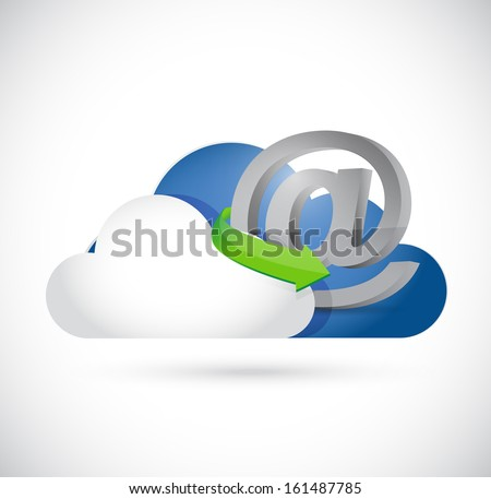 at online cloud illustration design over a white background - stock photo