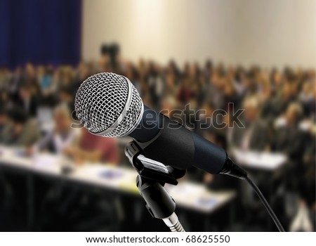 at seminar - stock photo