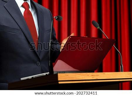 At Seminar Presentation - stock photo