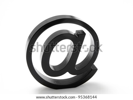 At Sign on white background - stock photo