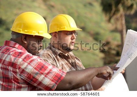 At the construction site - stock photo