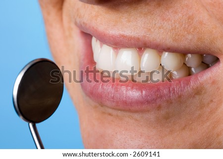 At the dentist - stock photo