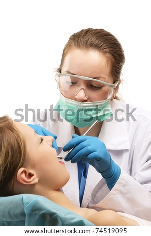 At the dentist's - stock photo