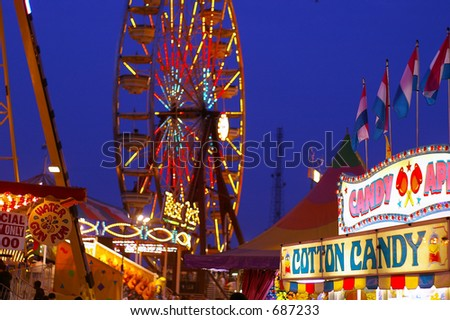 At the fair - stock photo