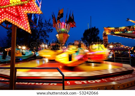 At the fairground - stock photo