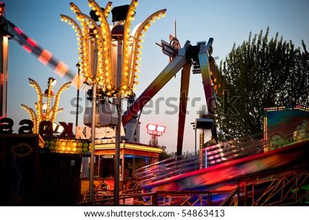 At the fairground - stock photo