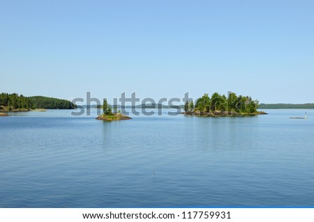 At the lakes around Savonlinna in Finland there are many small islands