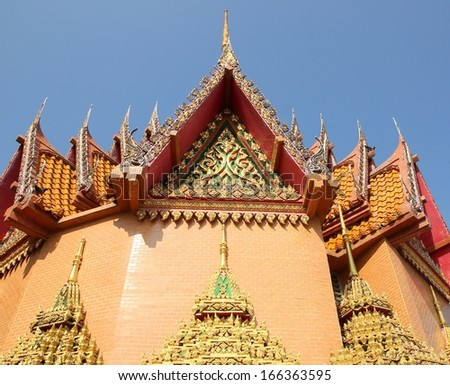 At the roof of Thai temple