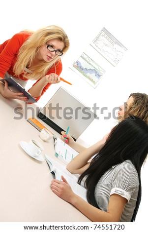At the seminar - stock photo