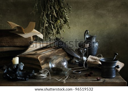 At the sorcerer's - stock photo