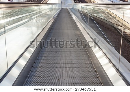 at the station have several escalators for each peron
