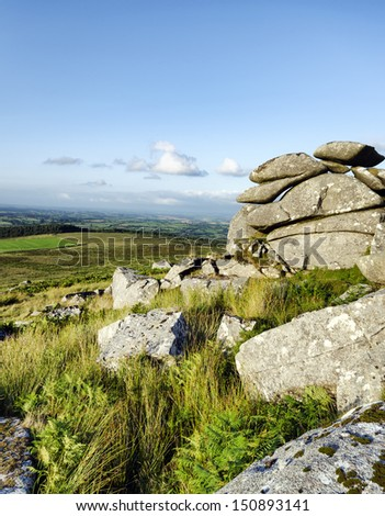 At the top of Kilmar Tor on Bodmin Moor in Cornwall
