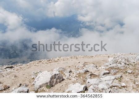 At the top of The Pirin Mountains - Vihren peak, Pirin National Park, Bulgaria, Eastern Europe  - stock photo
