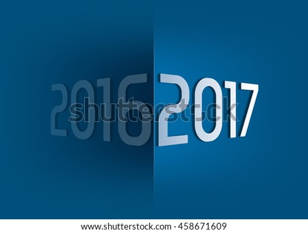 at the turn of the year 2016 2017 - stock photo