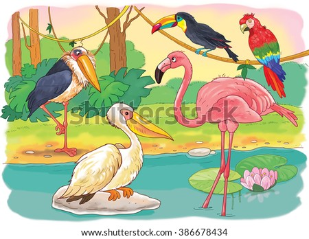 Zoo African Animals Small Set African Stock Illustration 386678434