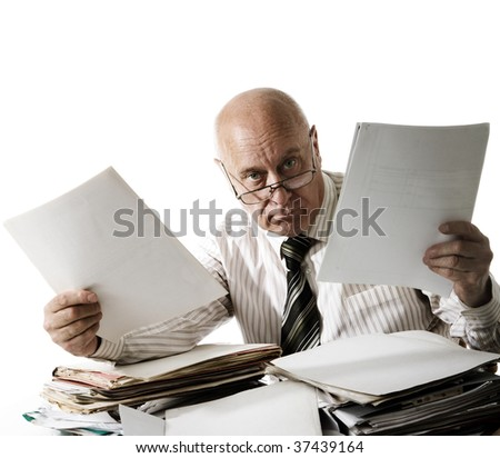 At you a problem with documents! - stock photo