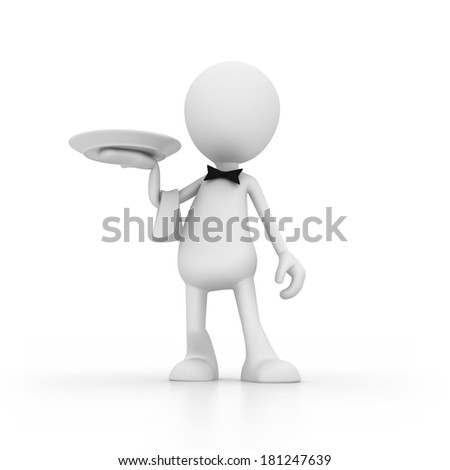 At your service - stock photo